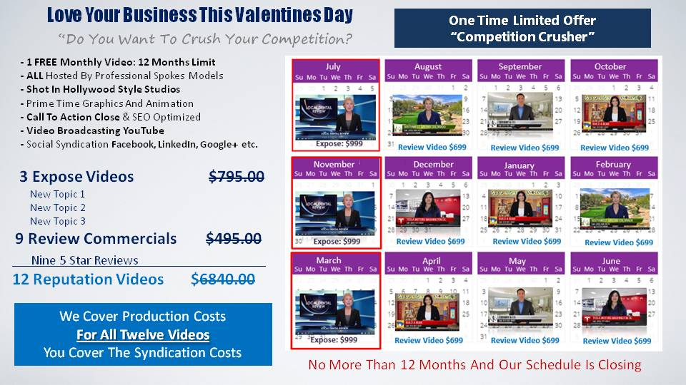 Valentines Day Video Promotion 2016 from Attract More Clients